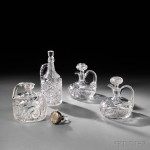 Four American Colorless Cut Glass Whiskey Jugs, late 19th/early 20th century (Lot 463, Estimate $400-$600)