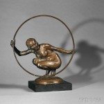 Bayes, Gilbert William, (British, 1874-1953), Greek Dancer, A Figural Bronze Study, c. 1905 (Lot 451, Estimate $3,000-$5,000)