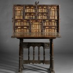 Spanish Baroque Gilt-metal and Bone-mounted Walnut Vargueno, 17th/18th century and later (Lot 468, Estimate $4,000-$6,000)
