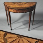 Pair of George III Satinwood-veneered Gate-leg Games Tables, late 18th century (Lot 455, Estimate $2,000-$4,000)