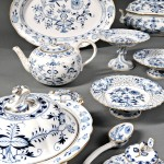 Extensive Meissen Blue Onion Dinner Service, Germany, c.1900 (Lot 378, Estimate $7,000-$9,000)