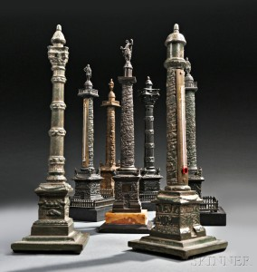 Group of Bronze Models of Columns (Lots 207-209)