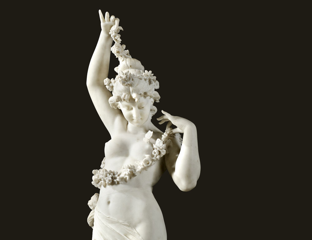 Ferdinando Andreini (Italian, 1843-1922), marble sculpture of Spring (Lot 481, Estimate $3,000-$5,000)