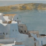 Greco/American School, 20th/21st Century A View of Santorini,   Greece (Lot 163, Estimate $500-$700)