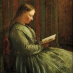 American School, 19th Century Profile of a Girl Reading (Lot   223, Estimate $800-$1,200)