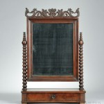 Late Classical Carved Mahogany Shaving Mirror, America, mid   19th century (Lot 871, Estimate $300-$500)