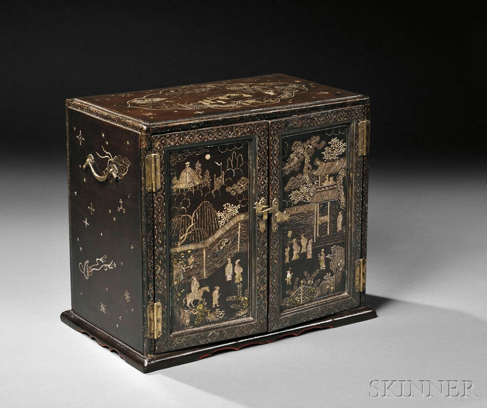 Lacquered Table Cabinet, China, 18th/19th century (Lot 554, Estimate $8,000-$10,000)