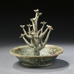 Pottery Model of a Tree in a Basin, China, Han Dynasty (Lot 699, Estimate $5,000-$7,000)