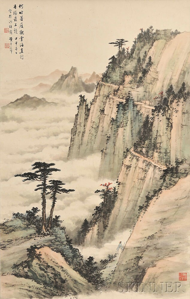 Hanging Scroll, China, 20th century, in the manner of Huang Junbi (1898-1991) (Lot 823A, Estimate $8,000-$10,000)