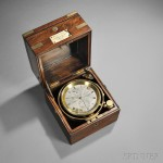 John Fletcher Two-day Chronometer, No. 1501, 48 Lombard St., London, c.   1855 (Lot 456, Estimate $4,000-$6,000)