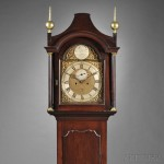 Benjamin Willard Cherry Tall Clock, Grafton, Massachusetts, c. 1770 (Lot   471, Estimate $10,000-$15,000)