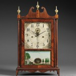 Eli Terry Outside Escapement Pillar and Scroll Clock, Plymouth,   Connecticut, c. 1817-18 (Lot 507, Estimate $15,000-$25,000)