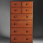 Shaker Red/Orange-stained Pine Case of Drawers, Mount Lebanon or Watervliet, New York, c. 1830 (Lot 58, Estimate $30,000-$50,000)