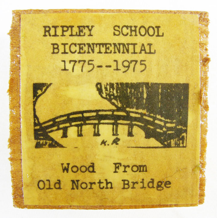 The North Bridge block that I received as a student at Ripley School in 1975