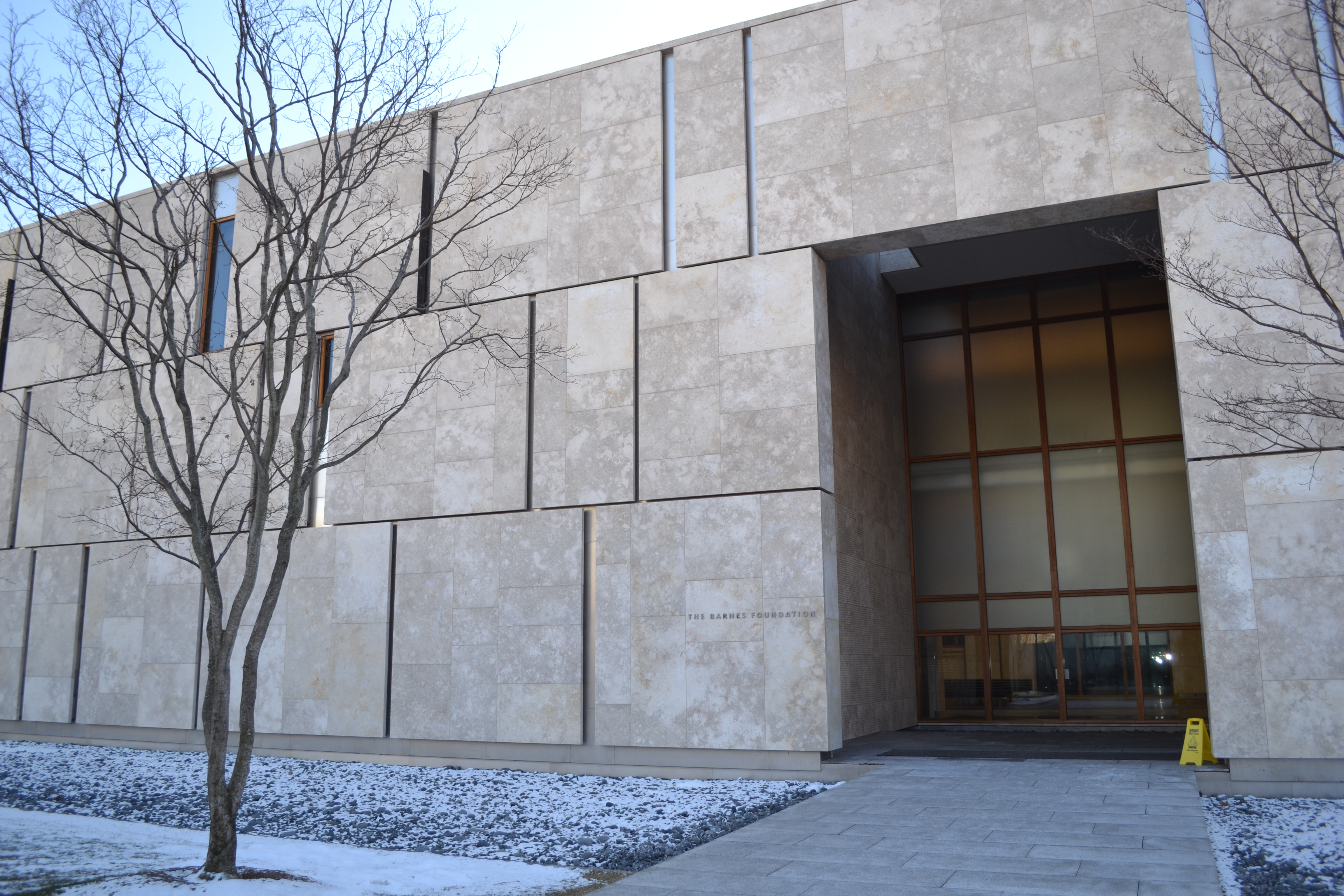 The Entrance to the Barnes Foundation in Philadelphia, PA