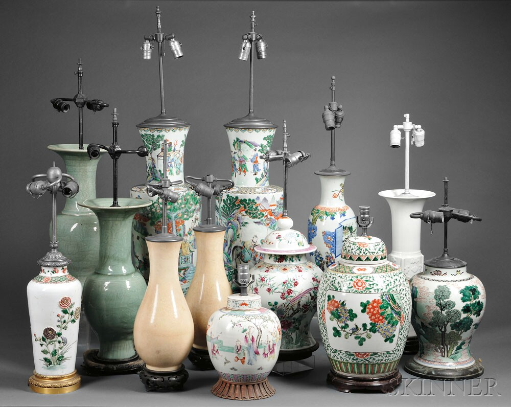 An assortment of lamps from the Estate of Peter L. Rosenberg