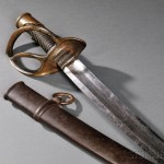 Model 1840 Ames Light Artillery Cavalry Saber and Scabbard (Lot 1365, Estimate $200-$400)