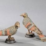 Four Enameled Birds (Lot 234, Estimate $100-$125)
