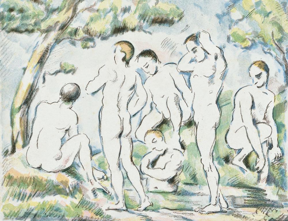 Paul Cézanne (French, 1839-1906) Les baigneurs (petite   planche), c. 1896-97 (Lot 26, Estimate $10,000-$15,000)