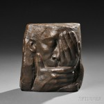 Käthe Kollwitz (German, 1867-1945), Die Klage, bronze   with dark brown patina (Lot 603, Estimate $15,000-  $25,000