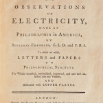 Franklin, Benjamin (1706-1790) Experiments and Observations   on Electricity. London: for David Henry, sold by Francis   Newbery, 1769 (Lot 147, Estimate $3,000-$5,000)