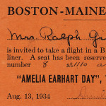 Earhart, Amelia (1897-1937) Signed Ticket to Amelia Earhart   Day, Waterville Airport, 13 August 1934 (Lot 19, Estimate   $500-$700)