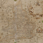 England and Wales. Christopher Saxton (c.1540-c.1610) Anglia.   London: [c. 1583] Double-page folio format map (Lot 388,   Estimate $4,000-$6,000)