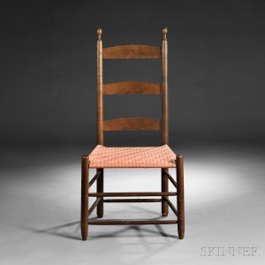 Shaker Tilter Chair, New Lebanon, New York, c. 1840 (Lot 57, Estimate $300-$500)