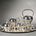 Stone Associates Eight-piece Tea and Coffee Service, Sterling silver,   Gardner, Massachusetts (Lot 104, Estimate $8,000-$12,000)