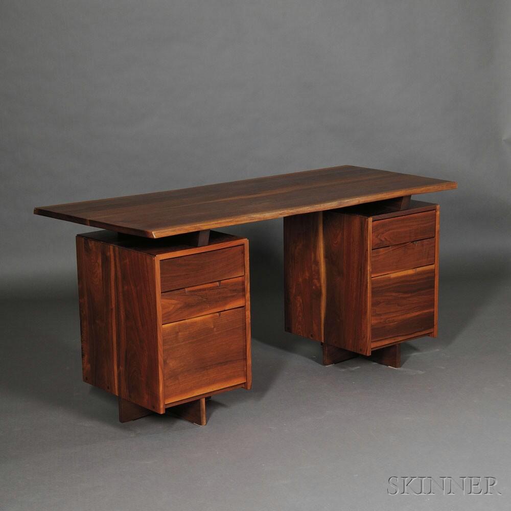 George Nakashima (1905-1990) Desk, New Hope Pennsylvania, 1977 (Lot 324,   Estimate $8,000-$10,000)