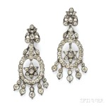 Antique Silver and Chrysoberyl Earpendants, 18th century (Lot 359, Estimate $2,000-$3,000)