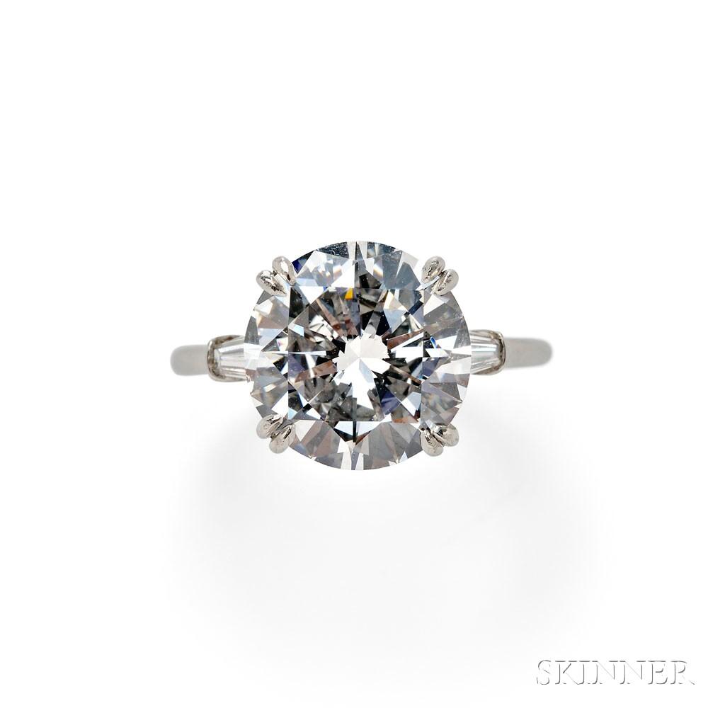 Platinum and Diamond Solitaire, Harry Winston (Lot 725, Estimate $225,000-$275,000)