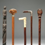 Eight Mostly Carved Walking Sticks (Lot 232, Estimate $350-$450)