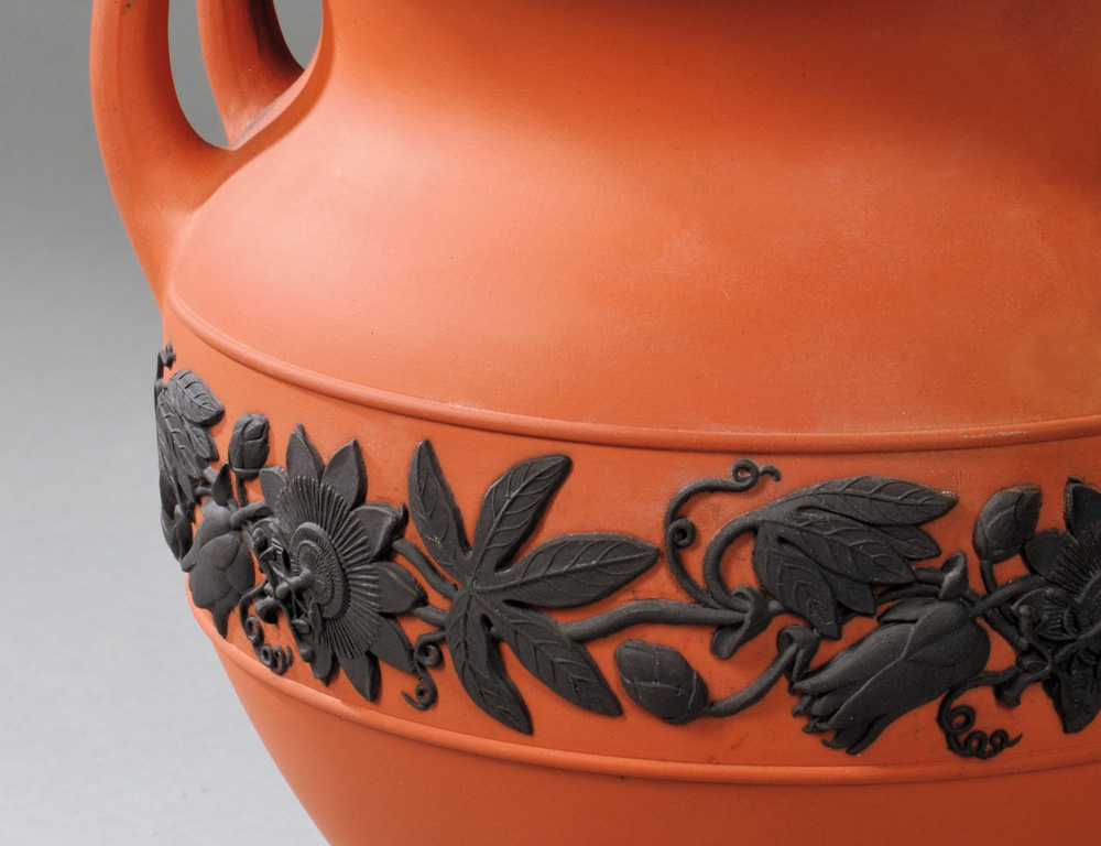 [Detail] One of Three Wedgwood Rosso Antico Items, late 19th century (Lot 243, Estimate $200-$400)