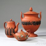Three Wedgwood Rosso Antico Items, late 19th century (Lot 243, Estimate   $200-$400)