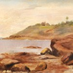 American School, 19th/20th Century Coastal View with Cabin (Lot 89, Estimate   $500-$700)