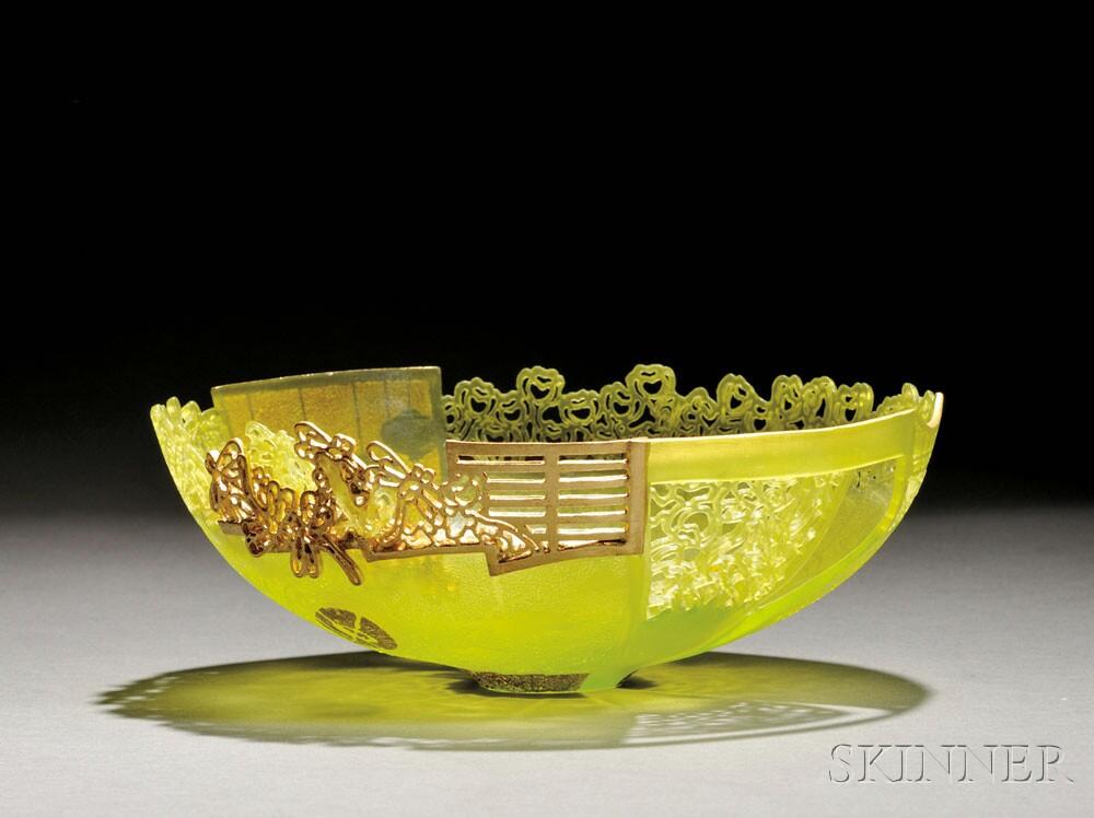 "Binh Pho (Vietnamese/American, b. 1955) ""Twomo"" Studio Glass Vessel (Lot 312, Estimate $8,000-$10,000)"