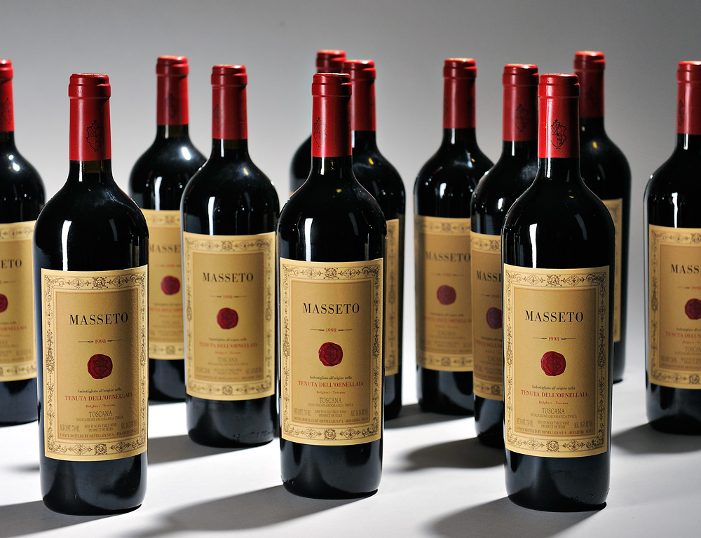 Tenuta dell'Ornellaia Masseto 1998, 12 bottles (Estimate $4,000-$6,000)