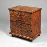 Folk-carved Miniature Four-drawer Chest, 1850 (Lot 1070, Estimate $400-$600)