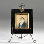 Framed Portrait Miniature of a Gentleman, 1826 (Lot 1533, Estimate $200-$250)