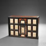 Italian Pietra Dura and Pietra Paesina-inlaid Walnut Table Cabinet (Lot 515, Estimate $4,000-$6,000)