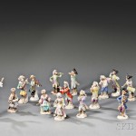 Fifteen Assembled Meissen Porcelain Monkey Band Figures, Saxony, 19th and 20th century (Lot 701, Estimate $10,000-$15,000)