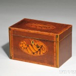 George III Mahogany Veneer Tea Caddy (Lot 204, Estimate $200-$250)