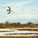 Bruce Dines (American, b. 1927) Woodcock in Flight (Lot 240, Estimate $400-$600)