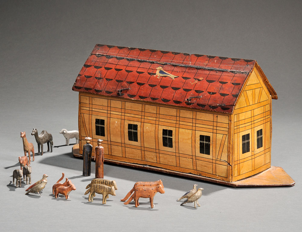 Painted Noah's Ark, Northern Europe, late 19th century (Estimate $1,000-$1,500)