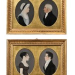 "Attributed to ""Mr. Boyd"" (possibly Harrisburg, Pennsylvania,   area, early 19th century), Four Miniature Profile Portraits (Lot   401, Estimate $8,000-$12,000)"