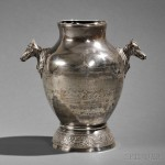 Silver Racing Trophy, Gorham Co., Providence, Rhode Island, 1887 (Lot 500, Estimate $15,000-$25,000)