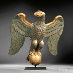 Carved and Painted Gilt Gesso and Wood Eagle Carving, America,   19th century (Lot 602, Estimate $4,000-$6,000)