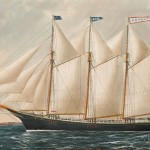 William Pierce Stubbs (Maine/Massachusetts, 1842-1909) Portrait of the Schooner Herald of New York (Lot 617, Estimate $6,000-$8,000)