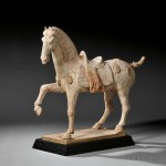 Pottery Caparisoned Horse, China, Tang dynasty-style (Lot 45, Estimate $15,000-$20,000)